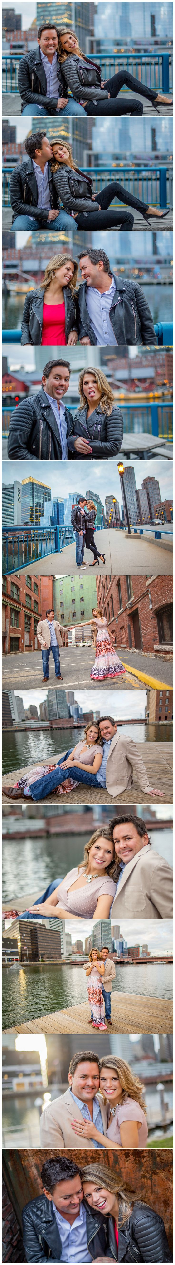 Casual Boston engagement photos taken in the Fort Point and Seaport districts.