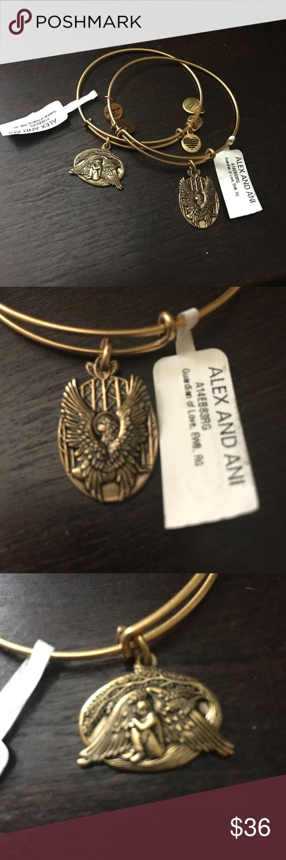 Alex and Ani gold bracelets Set of 2 Alex and Ani bracelets includes Guardian of healing, renew me and Guardian of love, surround me. Both are new with retail tags Alex & Ani Jewelry Bracelets