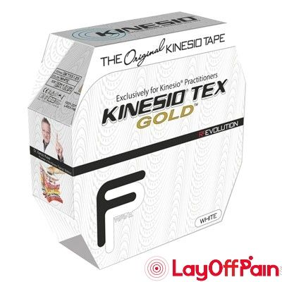 "Fabrication Enterprises - 24-4884 - Kinesio Tape, Tex Gold FP, 2"" x 34 yds, White, Bulk Roll"
