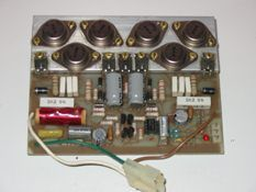 200W Audio power amp modules   Start price: $40.00Noreserve Closes: 1 hr 45 mins Listing #: 615785470 Starting bid:$Place BidAuto-bid   View full size photo Modules ex QSC PA amplifier, 400W per channel using two modules in bridge connection.   150x80x20mm   Output devices 3 each of 2N3773 & 2N6069 16A 140V 150W complementary outputs   Input section uses LF356 fet Opamp.