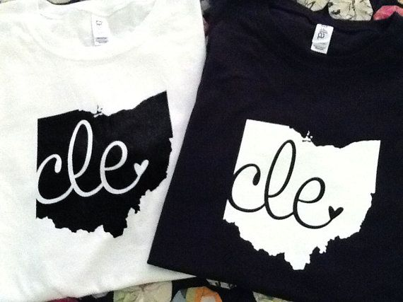 cle shirts $20 by Love Cleveland on Etsy
