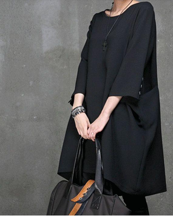 S5XL women  linen dress plus size blouse  large size by customsize, $78.00