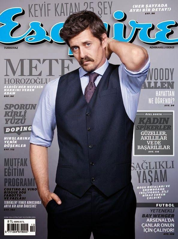 Male Fashion Trends: Mete Horozoglu en portada de Esquire Turquía Octubre 2013