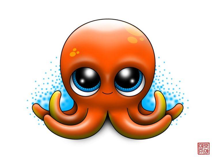 Octopus Illustration Tattoo Cute Octopus Tattoo ...