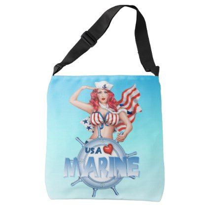 #cute - #SEXY MARINE  All-Over-Print Cross Body Bag LARGE