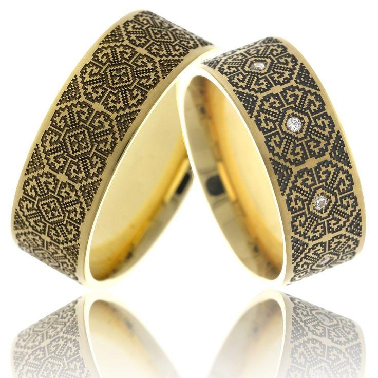 Verighete ATCOM Lux Lacramioara aur galben