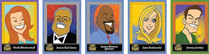 "Justin ""Squigs"" Robertson ~ ""Lights of Broadway"" Card Series: Heidi Blickenstaff, James Earl Jones, James Monroe Iglehart, Jane Krakowski, and Jeremy Jordan"