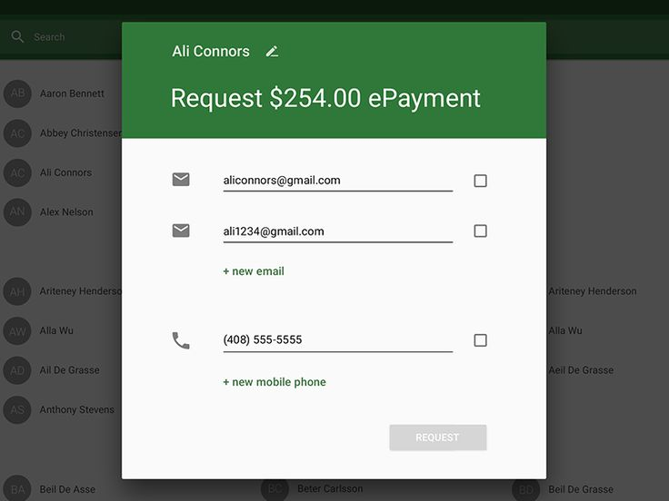 ePay Clover App Request Pay Dialog by Seven (Stepan) Shurygin