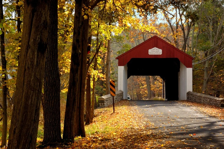 Fall is the perfect time to take a Covered Bridge Driving Tour of Bucks County's 12 remaining covered bridges.