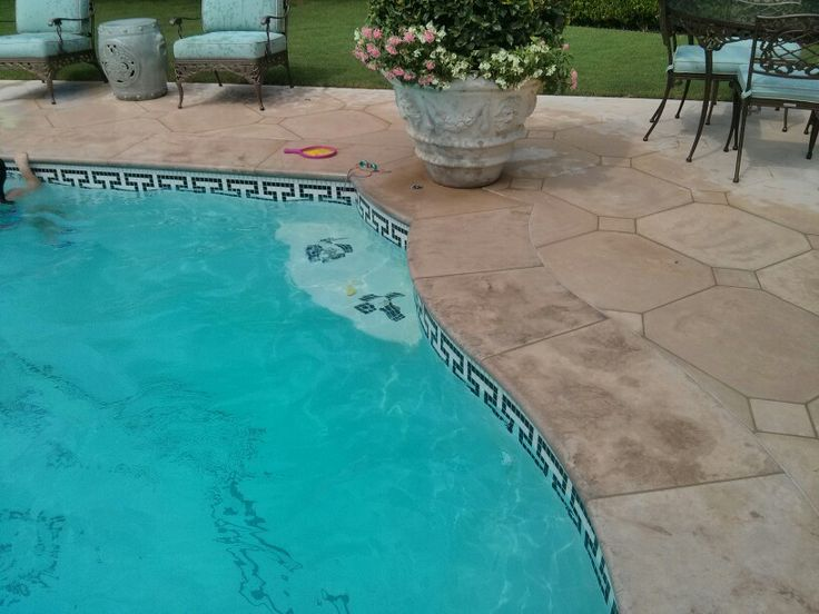 187 best images about pool surround on pinterest for Pool surround ideas