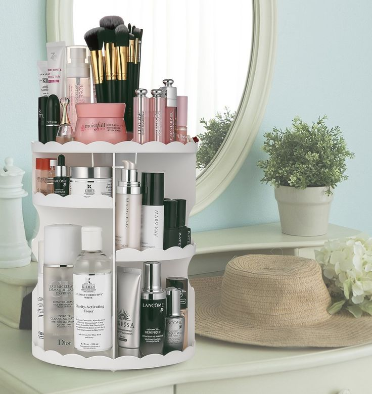 Rotating Makeup Organizer, Adjustable Multi-Function Cosmetic Storage Unit - 11 Best Bathroom Accessories