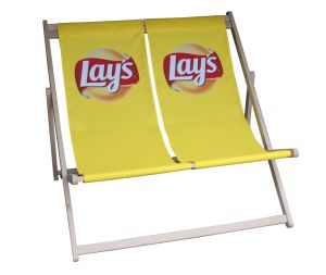 Werbeliegestuhl hergestellt für Lays