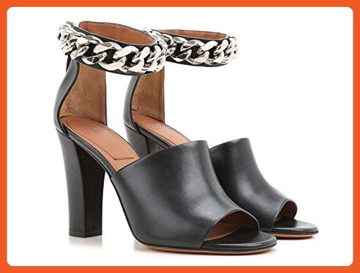 Givenchy Women's Black Calf Leather High Heel Sandals Shoes - Size: 8.5 US - Sandals for women (*Amazon Partner-Link)