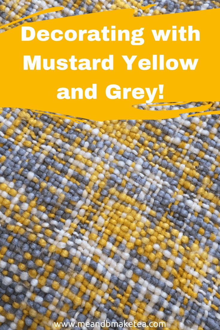 Decorating with Mustard Yellow and Grey - take a look at hoe to make your bedroom beautiful using grey and yellow this spring and summer.     These ideas are simple and don't need to blow the budget. #mustard #grey #gray #yellow #homedecor