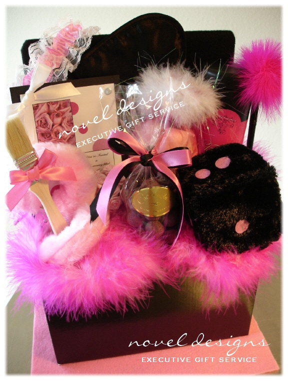 Pink Passion Spice Custom Naughty Gift Basket.  #bachelorette party gift