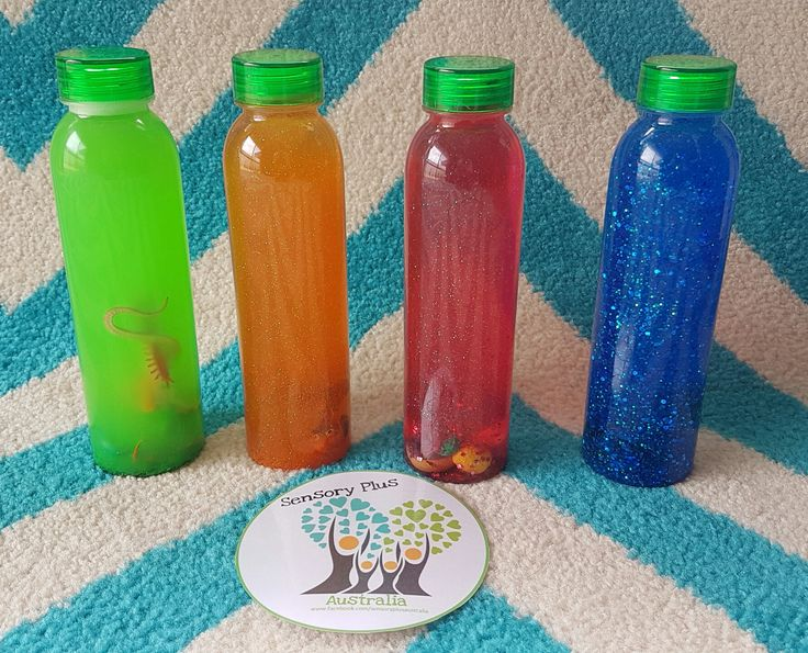 Our Sensory Bottles are a great way to calm anxious or upset children (or adults!).