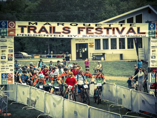 Cross Country mountain bike race during the Marquette Trails Festival in…
