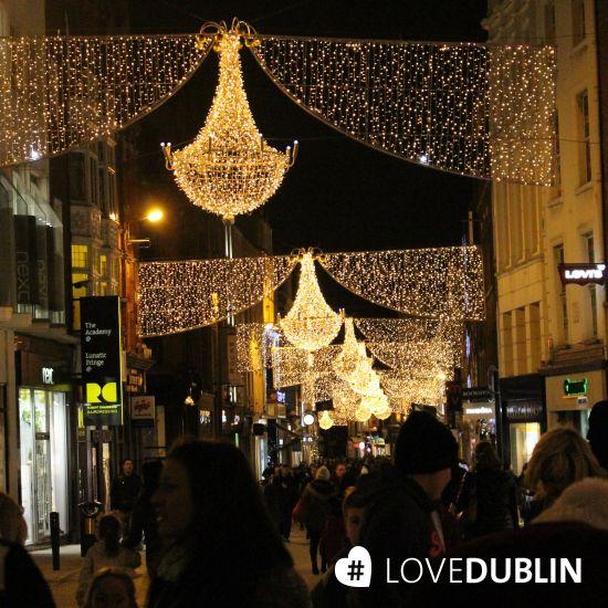 Dublins no. 1 #shopping #street lit up in style! #GraftonStreet #Dublin #Christmas #Lights #Decorations #LoveDublin #CityBreak