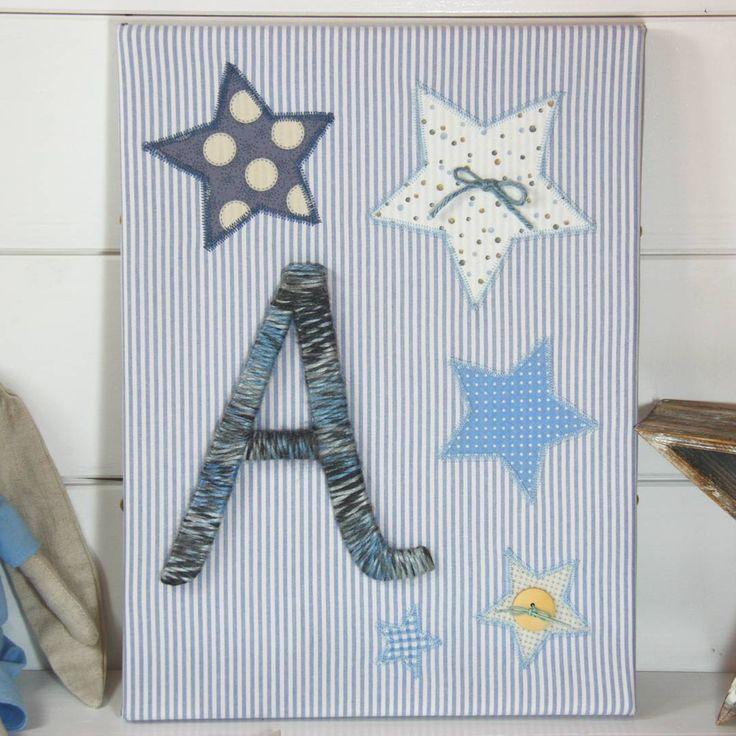 Star canvas for Alkaios nursery room!