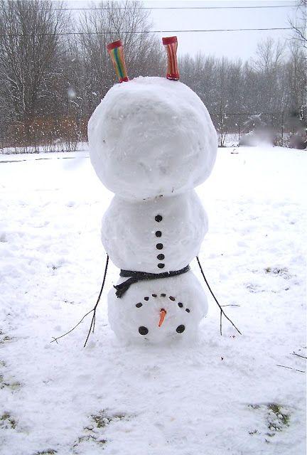 Making a Upside Down Snowman - So fun.