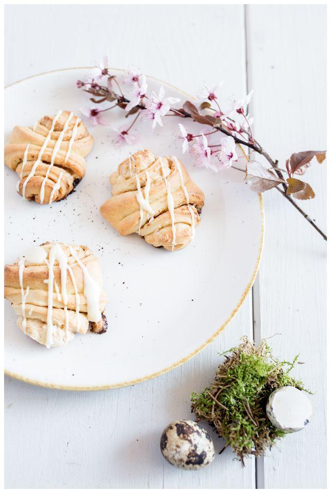 Eierlikör Franzbrötchen schmecken nicht nur zum Osterbrunch