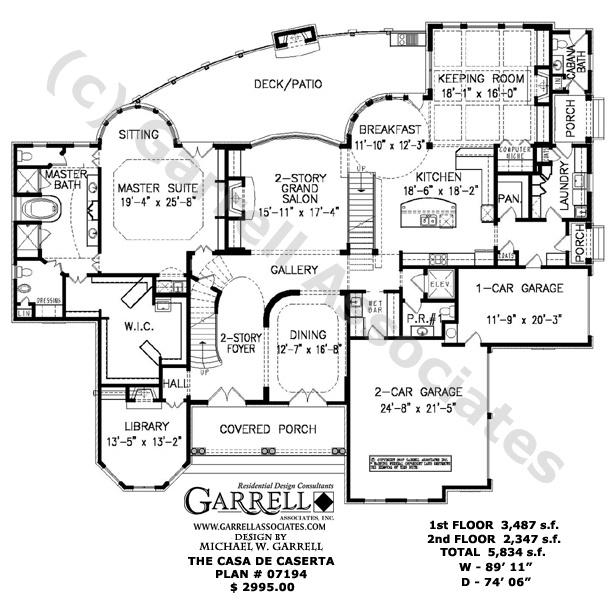 Casa De Caserta 07194 House Plans By Garrell