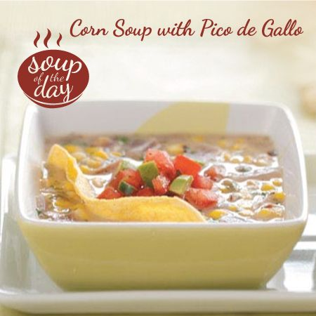 Corn Soup with Pico de Gallo Recipe from Taste of Home -- shared by Elaine Sweet of Dallas, Texas