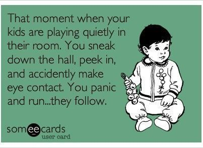 HAHAHA...No lie, I just did this! Except he was supposed to be napping.