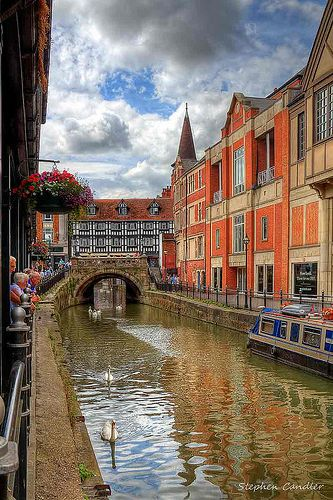 Along the River Witham in the Center of Lincoln ~  Lincolnshire, England