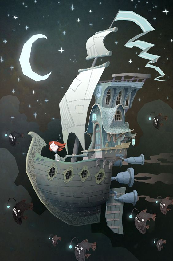 Fantasy RPG Illustrations / Fly By Night - Ken Wong