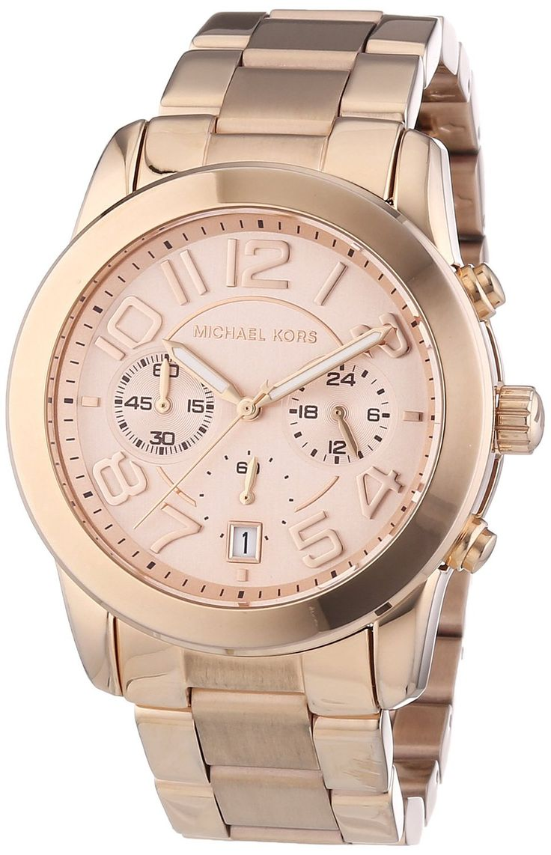 Michael Kors Damen-Armbanduhr Chronograph Quarz Edelstahl beschichtet MK5727: Amazon.de: Uhren