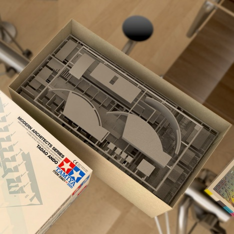 Tamiya Architectural Models - Koshino House - Tadao Ando