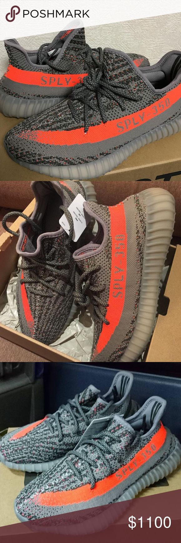 Yeezy boost v2 orange stripe Yeezy boost v2 orange stripe 100% authentic from Foot locker purchased in New York with receipt. Size 6 men's. (8 women's) brand new never worn. With adidas box, paper, & receipt. Adidas Shoes Sneakers