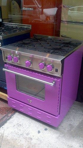 purple stove