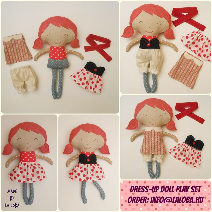 dress up doll, play set, doll with wardrobe, la loba