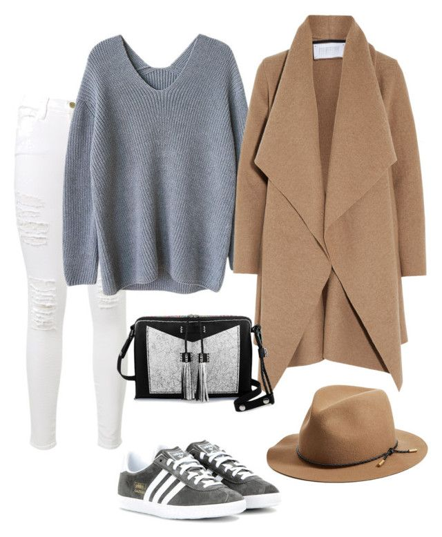 """""""Gazelle Outfit"""" by joana-peres ❤ liked on Polyvore featuring Frame Denim, adidas, Harris Wharf London, Carianne Moore, rag & bone, women's clothing, women's fashion, women, female and woman"""