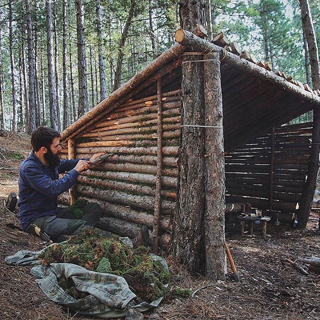 Bushcraft Survival Skills: Bir Miktar Emek #shelter #bushcraft #bushcrafting #forest
