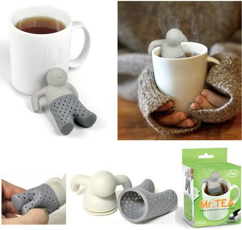 Free Shipping 4pieces Mr. Tea Infuser Mr. Tea Tea Strainers-in Coffee & Tea Sets from Home & Garden on Aliexpress.com