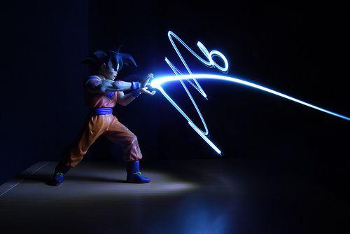 Light Graffiti - Goku by artwork_rebel, via Flickr