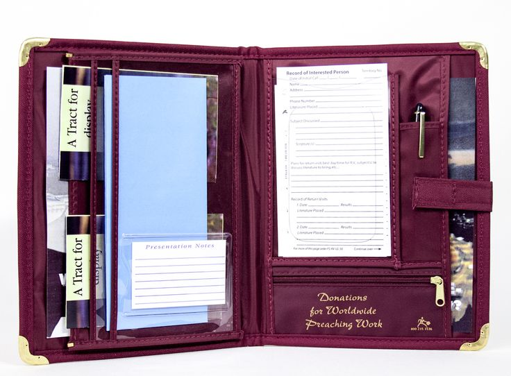 stoops manufacturing campaign organizer with tablet pocket burgundy - Field Service Organizer