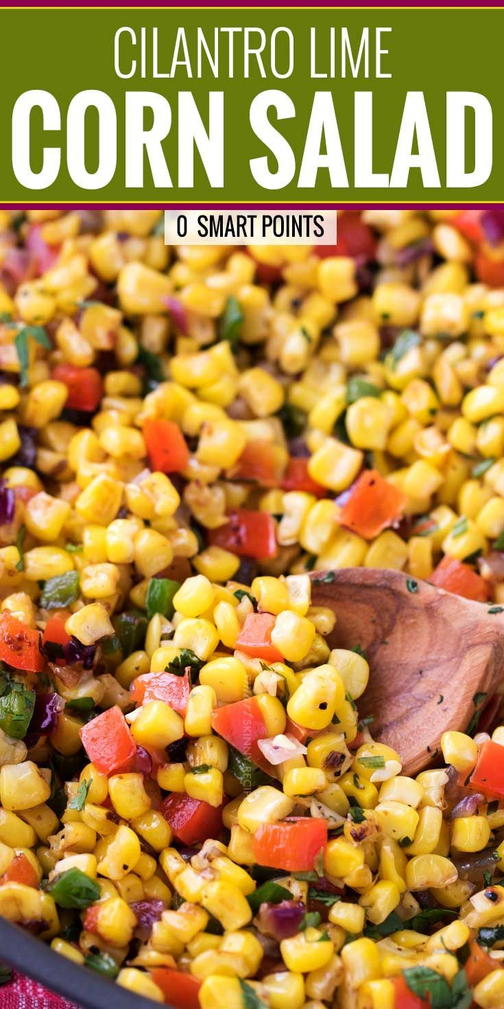 This Southwest cilantro lime corn salad is bold, healthy, and incredibly versati…