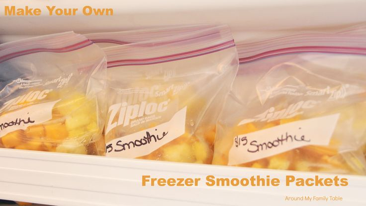 Instead of buying expensive pre-made smoothie packets, try making your own for a fraction of the cost.