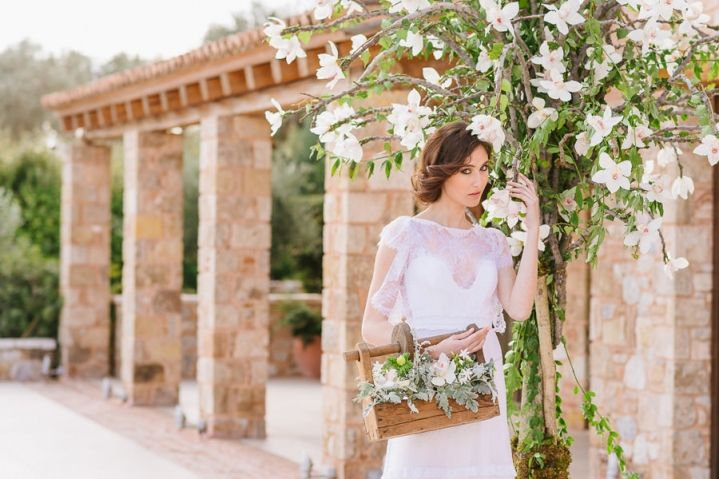 Styled shoot with Christos Costarellos bridal gowns at Pyrgos Petreza (part 1)