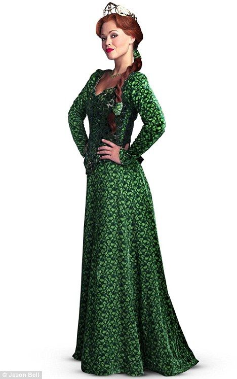 Shrek-tacular! The first picture of Kimberley Walsh as Princess Fiona in Shrek The Musical has been released