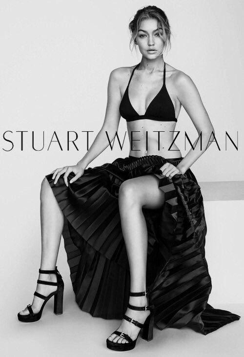 hadidnews: Gigi Hadid for Stuart Weitzman SS16.