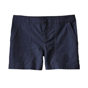 Short navy blue - Patagonia The chino-style Stretch All-Wear Shorts are made from 98% organic cotton/2% spandex fabric.