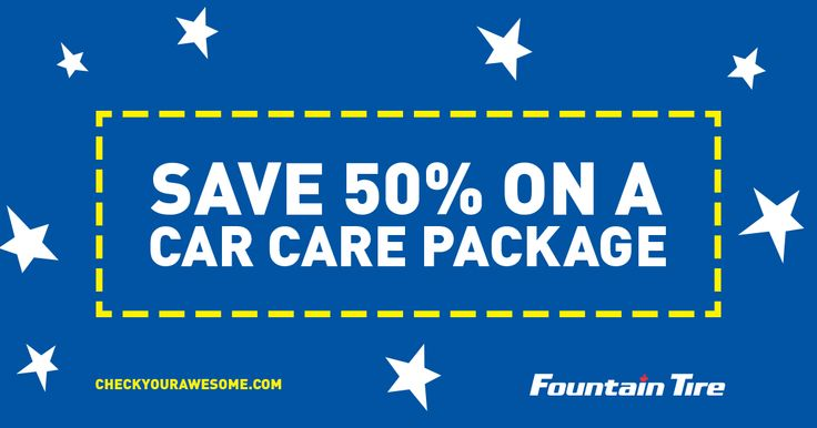 Save 50% on a @fountaintire car care package & enter to win 15,000 Air Miles at any #YVR area store or here: