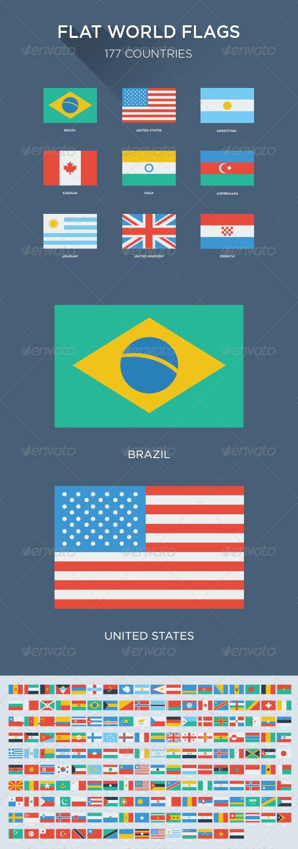 177 Flat World Flags