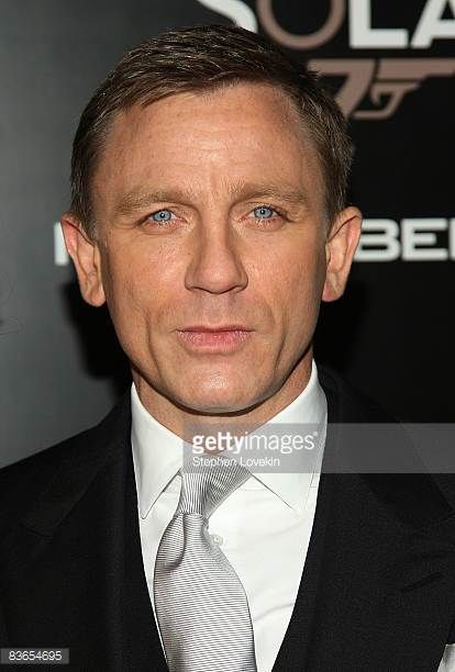 Actor Daniel Craig attends the Tribeca Film Institute's 2008 Fall Benefit Screening of 'Quantum of Solace' at AMC Lincoln Square on November 11 2008...