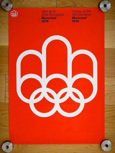 1976 Montreal Olympics Poster; I wish I'd been more interested in the Olympics in 1976 because I am only 3 hr.s by car from Montreal and may have been able to be there.